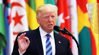 """Exhausted Guy"" Trump Flubs Saudi Speech"