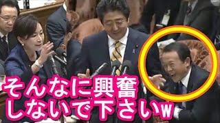 山尾志桜里w「安倍総理わからないんですか!」麻生大臣も大爆笑の超面白い国会中継アパッチのおたけび