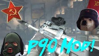 """Fallout 4 Mod Showcase #26 FN P90 MOD! """" P90 Mod for Fallout 4! """""""