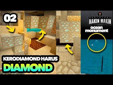 Seed Makin-Makin, DIAMOND, DESERT TEMPLE, OCEAN MONUMENT - MINECRAFT INDONESIA MCPE #02