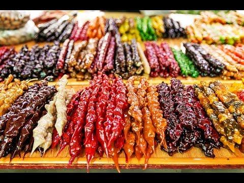 Лазаревское 2017 | Цены на обед, пробуем чурчхелу |  День 1 часть 2