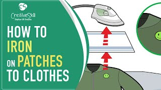 How to Iron on Patches to clothes | Cre8iveSkill