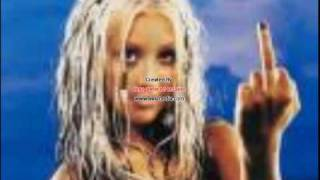 christina aguilera the real slim shady plz shut up (with lyrics)