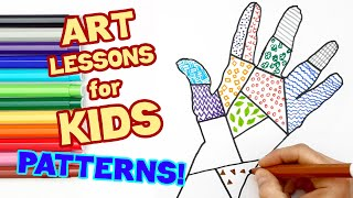 LEARN TO DRAW PATTERNS! (ART LESSONS FOR KIDS)