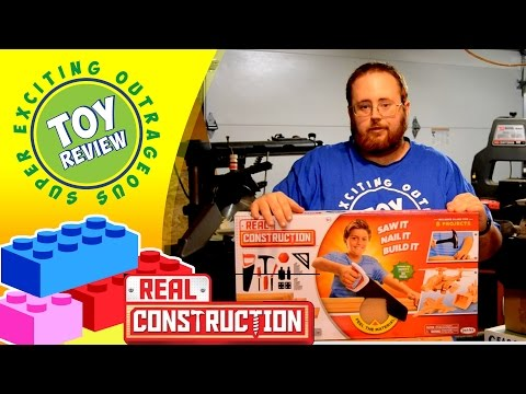 Real Construction Deluxe Workshop – JAKKS Pacific – Saw It, Nail It, Build It! – Toy Review