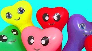 Шарики с водой Учим цвета Развивающее видео Детям Поем песню Семья пальчиков Лопаем Воздушные шарики