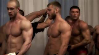 Russian bodybuilding championship. Weighting. Backstage.