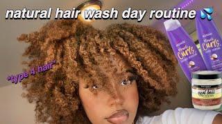 NATURAL HAIR WASH DAY ROUTINE (TYPE 4B/4C HAIR) 💦