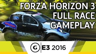 Forza Horizon 3 Full Race Gameplay - E3 2016