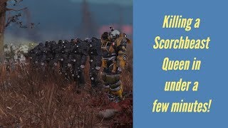 Killing a Scorchbeast Queen in under a few minutes