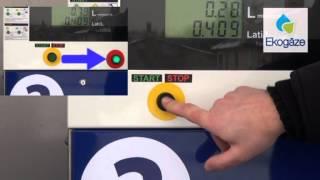 Pareiza auto gāzes uzpilde pašapkalpošanās stacijā