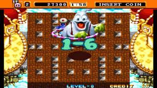 [ARCADE] 네오 봄버맨(Neo Bomberman) - 노멀 모드(스토리 모드) 최고 난이도 LEVEL 8 노 다이 원코인 동영상 [720p 60FPS]
