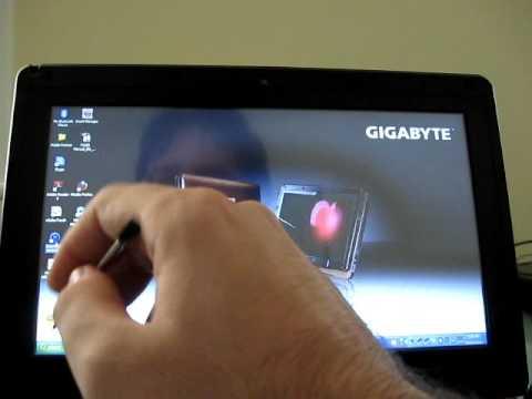 Gigabyte TouchNote T1028X touchscreen demo
