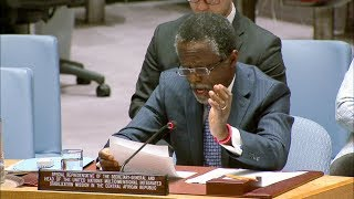 Parfait Onanga-Anyanga briefing the Security Council