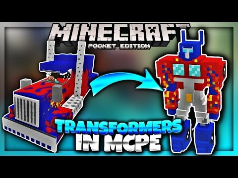 TRANSFORMERS IN MCPE 1 1 - Minecraft PE Transfomers Addon (Minecraft Pocket  Edition 1 1) - JPlaysPE