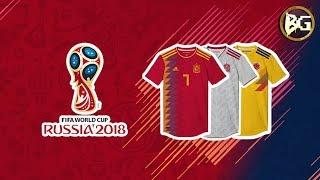FIFA 2018 WORLD CUP KITS | OS MELHORES UNIFORMES