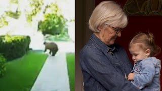 Grandma Grabs Baby as She Flees Bear