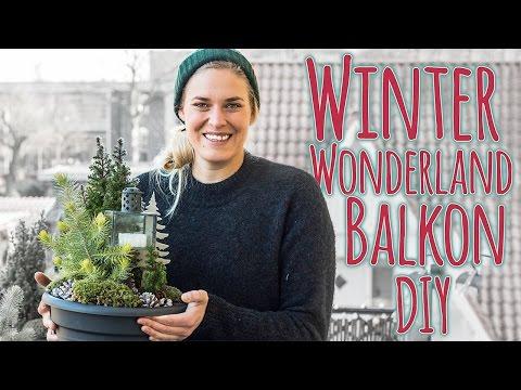 BALKON AUFPIMPEN DIY - Winter Wonderland