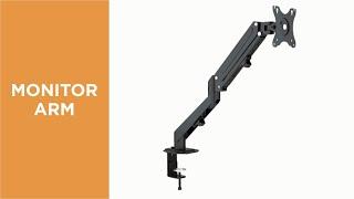 Economical Stylish Single Monitor Gas Spring Arm-LDT25-C012