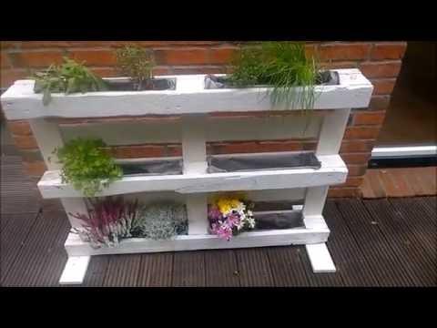 Kräuterregal / Blumenregal aus einer Palette / Europalette bauen