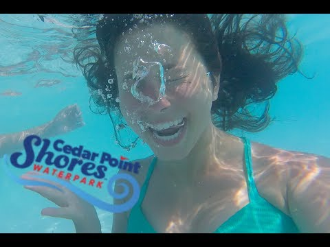 FIRST TIME AT THE WORLD'S BIGGEST WATERPARK // Cedar Point Shores *we got lost...* (видео)