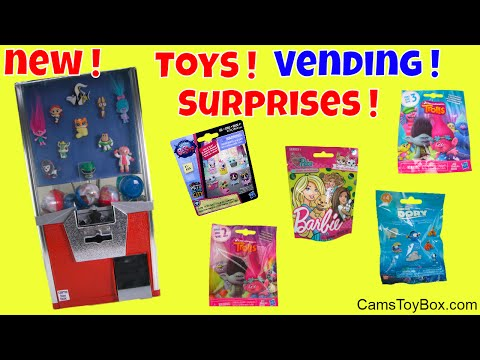 Toys Vending Machine Surprises Trolls Barbie Pets Finding Dory Series 3 4 Blind Bags Opening