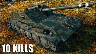 10 фрагов на БОРЩЕ 🌟 World of Tanks Rhm.-Borsig Waffenträger лучший бой пт-сау германии 8 уровень