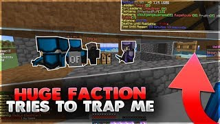 HUGE FACTION TRIED TO TRAP ME! - VELTPVP | Minecraft HCF