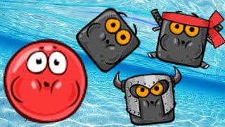 ПОДВОДНЫЙ МИР! НОВЫЙ КРАСНЫЙ ШАРИК 4 - ПОДЗЕМНЫЕ ХОДЫ мультик игра для детей RED BALL 4 - Volume 5