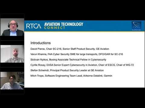 RTCA April 2021 Webinar: Aviation Cybersecurity: Harmonization ...