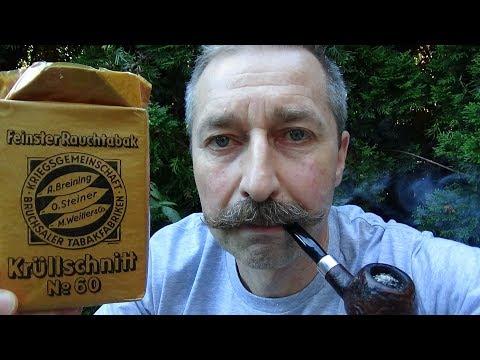 Alten Pfeifentabak aus der Kriegszeit rauchen