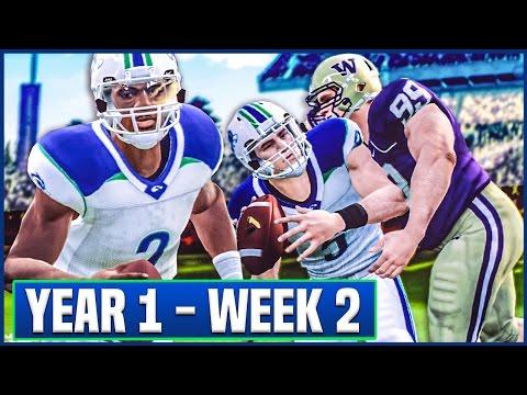 NCAA Football 14 Teambuilder Dynasty Year 1 - Week 2 vs #11 Washington   Ep.5