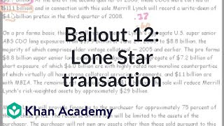 Bailout 12: Lone Star Transaction