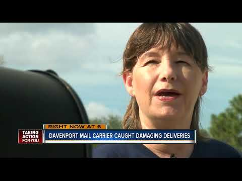 USPS carrier caught throwing package, swearing at teenager