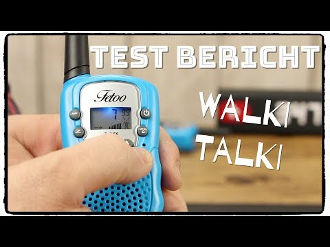 🔴FETOO Walkie Talkie 2,5km Reichweite für Kinder im Test /Review / Unboxing