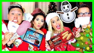 TRYING CHRISTMAS TREATS w/ HEART, REBECCA ZAMOLO, & MATT SLAYS