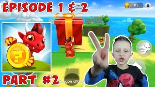 Let's play Dragon Land episode 1+boss & ep. 2 lvl 1,2 - I love this dragon land game!