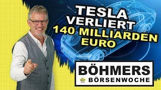 Tesla verliert 140 Milliarden Euro an der Börse!