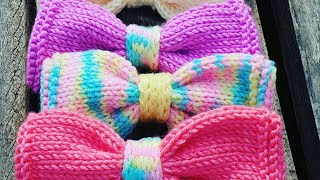 Knitted Hair Bow Ties