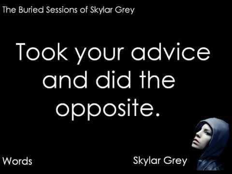 Significato della canzone Words di Skylar Grey
