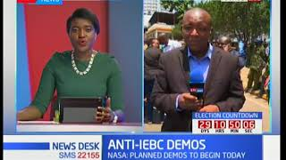 Anti-IEBC Demos controlled as NASA supporters still strategize how to regroup