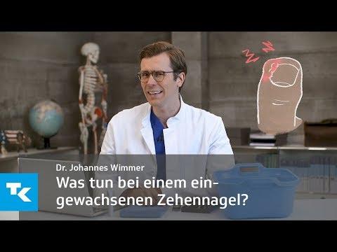 Was tun bei einem eingewachsenen Zehennagel?   Dr. Johannes Wimmer
