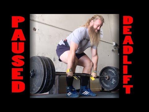 Barbell Paused Deadlift