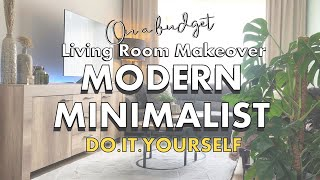 DECORATE WITH ME | Minimalist + Scandinavian Living Room Makeover Part 1 | My Hygge Home Ep. 1