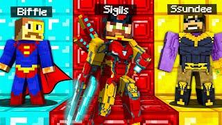 SUPER HERO HIDE and SEEK in Minecraft (OP)