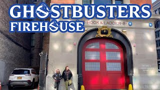 Ghostbusters Firehouse Visit, Hook & Ladder 8 in NYC!