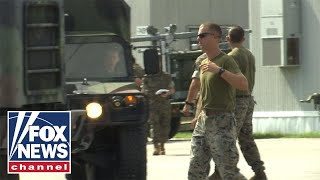 Marines open shelters ahead of Hurricane Florence