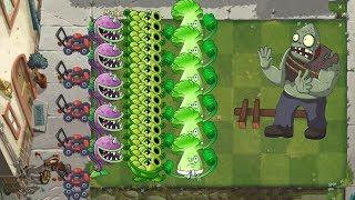 Pvz 2 - Sling Pea, Chomper and Bonk Choy vs all Zombies