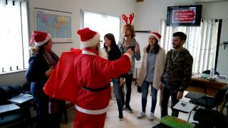 Santa Claus visits Gateway School of English GSE in Malta for Christmas
