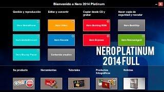 Descargar Nero 2014 Platinum+Ativador+Serial